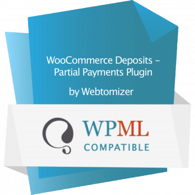 Woocommerce Deposits is fully compatible with WPML